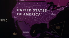 America On World Map 16 Stock Footage