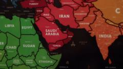 Asia On World Map 20 Stock Footage