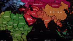 The World Map 99 Stock Footage