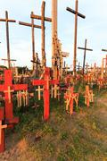 wooden crosses. Christianity - stock photo