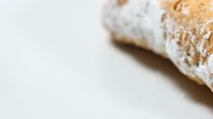 The Italian Cannoli, typical dessert from Sicily. Stock Footage