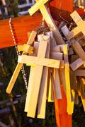 wooden crosses . Christianity - stock photo