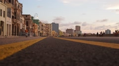 Havana malecon Stock Footage