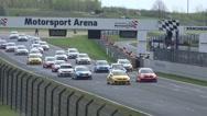 Stock Video Footage of 4k Volkswagen Golf Cup car race start scene