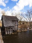 watermill . Golshany Belarus - stock photo