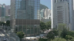 Central business district of Hong Kong. Speed-lapse. Flat picture profile. - stock footage