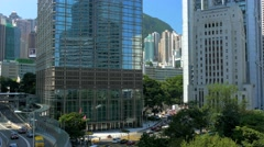 Central business district of Hong Kong. Color graded - stock footage