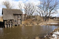 Watermill . Golshany Belarus Stock Photos