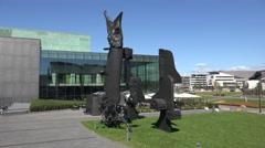 The Helsinki Music Centre (in 4k), Helsinki, Finland. Stock Footage