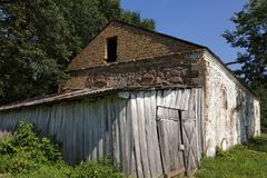 destroy buildings  . belarus - stock photo