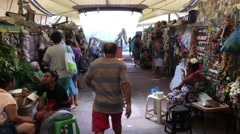 People on Local Market in Belem do Para, Brazil Stock Footage