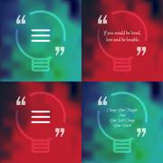 Stock Illustration of Square quote text bubble