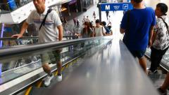 Stock Video Footage of point of view pov escalators going down big shopping centre mall 4k sales