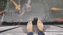 Barefoot fisherman Stock Footage