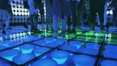 Illuminated dance floor - stock footage
