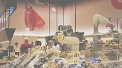 Robot working in groceries Arkistovideo