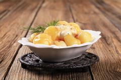 Parisian potatoes with mozzarella cheese - stock photo