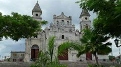 Guadalupe Church in Granada, Nicaragua Stock Footage