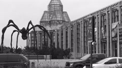 Canadian National Art Gallery with Spider Sculpture, Ottawa 2015 Stock Footage