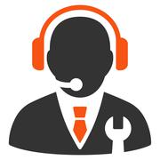 Service Manager Icon Stock Illustration