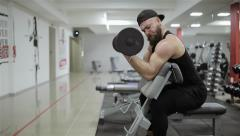 Man training in the gym Stock Footage