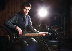 Rock star - stock photo