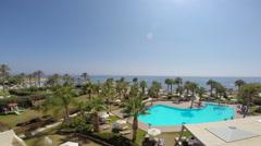 Aquamare Hotel PAN, Paphos, Cyprus Stock Footage
