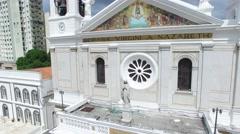Aerial View of Basilica de Nazare, in Belem do Para, Brazil - stock footage