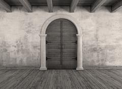 Old interior doorway Stock Illustration