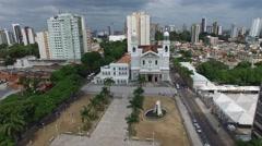Aerial View of Basilica de Nazare, in Belem do Para, Brazil Stock Footage
