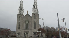 La Basilique-Cathédrale Notre-Dame/Notre Dame Cathedral Basilica, Ottawa Stock Footage