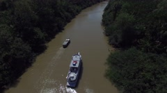 Aerial View of Amazon River in Brazil Stock Footage