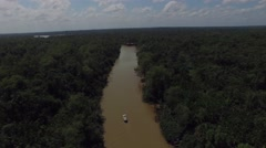 Aerial View of Amazon River in Brazil - stock footage