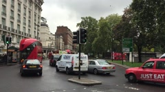 Marble Arch - Oxford St - London HD Stock Footage