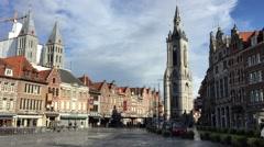 Grand Place - Tournai - Belgium HD Stock Footage