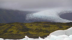 epic glacial hearth of artic ice - stock footage