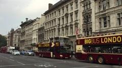 London Parliament Street HD Stock Footage