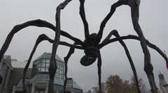 "Louise Bourgeois's ""Maman"" Spider Sculpture, Ottawa 2015 Stock Footage"