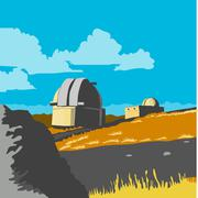 Mt John Observatory Lake Tekapo WPA - stock illustration