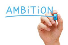 Stock Photo of Ambition Blue Marker