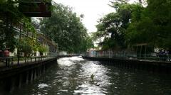 Bangkok river water metro stop 4k Stock Footage
