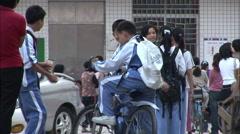Chinese schoolchildren, Shenzhen - stock footage