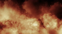 Clouds smoke fire 4k Stock Footage
