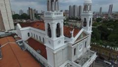 Nossa Senhora de Nazare Cathedral in Belem do Para, Brazil Stock Footage
