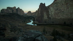 Time Lapse Sunrise at Smith Rock State Park Stock Footage
