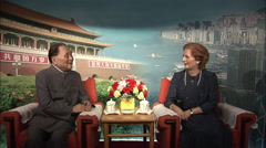 Deng & Thatcher waxworks, museum, China Stock Footage