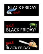 Capenter Tools on Three Black Friday Banners Stock Illustration