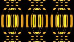 Vj Loop Geometric Club Yellow Visual Background Stock Footage