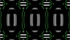 Vj Loop Geometric Club White Green Mixed Visual Background - stock footage