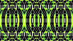 Stock Video Footage of Vj Loop Geometric Club Green Mixed Visual Background